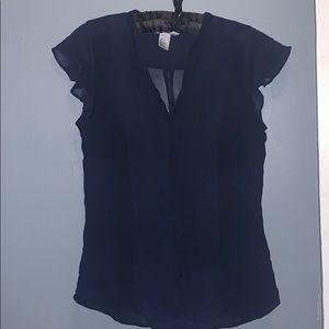 H&M Navy sleeveless Blouse